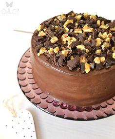 tarta de chocolate platano y nueces   banana & walnut cake