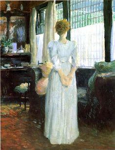In the Livingroom - Julian Alden Weir