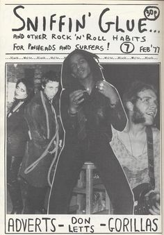 Sniffin' Glue fanzine with Don Letts cover, 1977 (close to 1976!)
