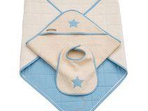 Geburtsgeschenk-Set mit Krabbeldecke in hellblau