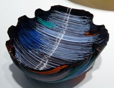 Toots Zynsky glass sculpture at the Corning Museum of Glass