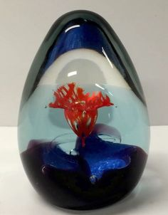 BEAUTIFUL SCOTTISH CAITHNESS GLASS PAPERWEIGHT ASCENSION BY ALISTAIR MACINTOSH
