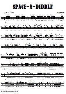 Space-A-Diddle - Snare Drum Solo - Drum Sheet Music