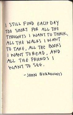John Burroughs sums it up.