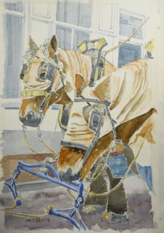 Toine de Jong, Vastenavend Krabbegat aquarel