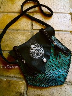 Celtic Dragon Leather Bag by EireCrescent on Etsy, $79.99
