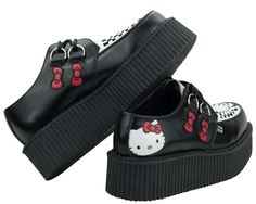 Shop Men's & Women's Creepers - Round Toe Creepers, Pointed Toe Creepers, Slip-On Creepers and Vegan Creepers. Pretty Shoes, Cute Shoes, Me Too Shoes, Aesthetic Shoes, Aesthetic Clothes, Hello Kitty Shoes, Hello Kitty Clothes, Sock Shoes, Baby Shoes