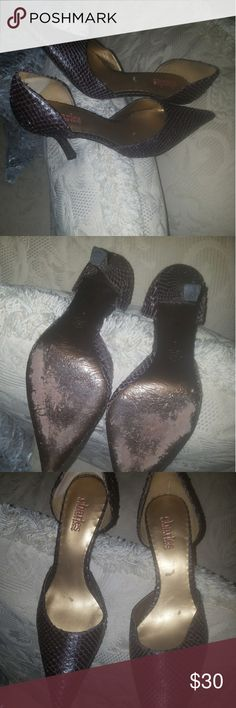 Charles David Brown snake skin size 8 Brown snake skin, very good condition, gently used. Charles David Shoes Heels