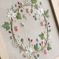 VER BORDADOS AYUDA A SUPERARNOS EN NUESTRAS LABORES Hand Work Embroidery, Embroidery Flowers Pattern, Hand Embroidery Stitches, Embroidery Hoop Art, Hand Embroidery Designs, Ribbon Embroidery, Floral Embroidery, Cross Stitch Embroidery, Brazilian Embroidery