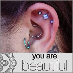 Unique cartilage piercings