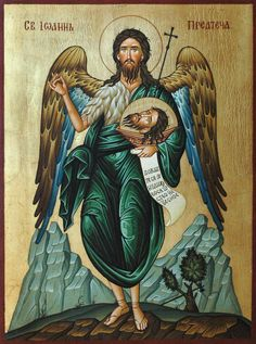 Religious Icons, Religious Art, Byzantine Icons, Archangel Michael, John The Baptist, Catholic Art, Orthodox Icons, Christian Faith, Jesus Christ