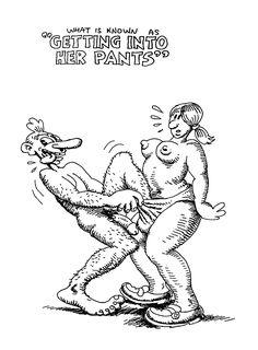 """ Are you CUMing in, or what ? Robert Crumb, Underground Comics, Fritz The Cat, Art Bin, Alternative Comics, Funny Comics, Erotic Art, Comic Strips, Comic Books"