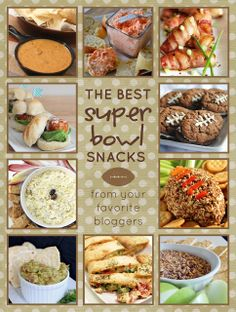 The Best Superbowl Snacks at http://therecipecritic.com  This will be your last stop for awesome superbowl snacks from all of your favorite bloggers!!