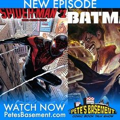 Batman Europa concludes on a high note. The guys are loving Miles Morales Spider-Man. We're dropping tons of bombs tonight! Exclusive info on Supergirl Agent Carter Legends of Tomorrow and more! Our good buddy Mike from Geek of the Week podcast sits in with Cheezeburger Pete and Ramon on this explosive episode. Plus we answer the burning question: What's our favorite G.I. JOE episode? Go 'on whatcha waitin for? Get to watchin while the fires still hot! In this episode:  00:01:57 - Spider-Man…