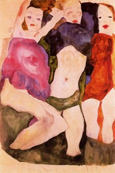 Three Girls, 1911 ~ by Egon Schiele (1890-1918) http://irea.files.wordpress.com/2008/08/tres-muchachas-1911.jpg