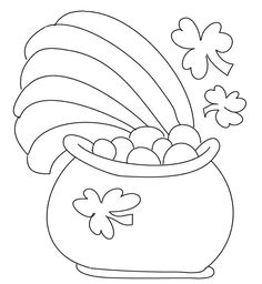 Coloring page St patricks day crafts for kids, St