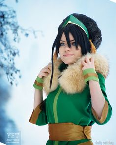 Toph Beifong from Avatar: The Last Airbender see http://dailycosplay.com/2014/August/13b.html