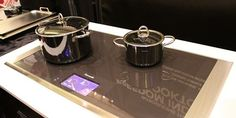 Thermador Freedom induction cooktop. This unit has a unique cooking surface. You will be able to place your pan anywhere on the surface and cook. No longer will you have to worry about the pan being too big for the burner.