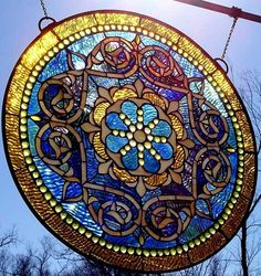 stained glass hanging. love it!