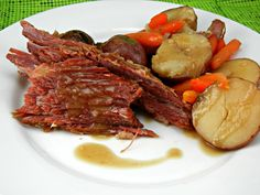 Slow Cooked Corned Beef With Guinness Gravy on MyRecipeMagic.com