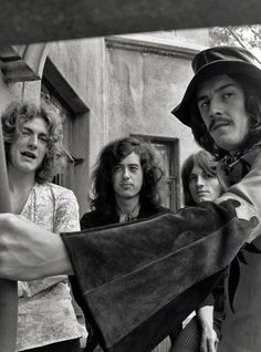 Led Zeppelin at Chateau Marmont, 1969.