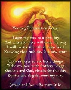 Morning Appreciation Prayer – Witches Of The Craft® Wiccan Spell Book, Spell Books, Under Your Spell, Morning Prayers, Morning Blessings, Chant, Book Of Shadows, Spiritual Awakening, Positive Affirmations