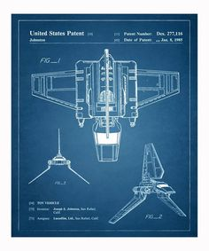 Take a look at this Imperial Shuttle 1985 Art Print by Oliver Gal on #zulily today!