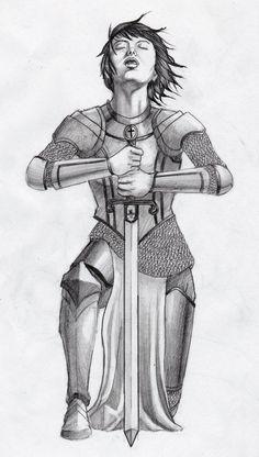 Jehanne D'Arc by TomikoArt on DeviantArt Joan D Arc, Saint Joan Of Arc, St Joan, Inspiration Drawing, Art Deco Paintings, Prayer Warrior, Women In History, Tattoos With Meaning, Art Techniques