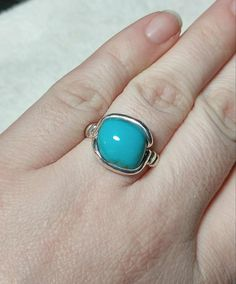 Hey, I found this really awesome Etsy listing at https://www.etsy.com/listing/515393052/simple-turquoise-ring-sterling-silver
