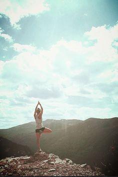 Yoga. Colorado. Mountains.