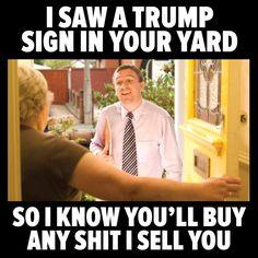 The salesman...
