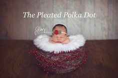 Christmas Headband with Felt Flowers by ThePleatedPolkaDot, $6.00