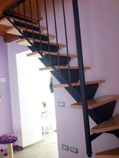 Scala in ferro e legno stair steel wood