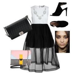 Senza titolo #21 by marzia88 on Polyvore featuring polyvore, fashion, style, Canvas by Lands' End, Simone Rocha, Tory Burch, Chanel, Iceberg and clothing