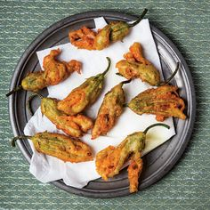 Fried Anchovy-Stuffed Zucchini Blossoms | SAVEUR (Sergio recommends adding basil to the anchovy stuffing)