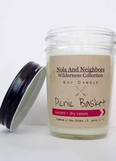 Currant Cassis Berry Scented soy candle hand by NolaAndNeighbors