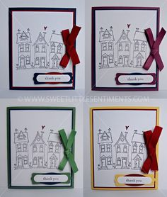 Sweet Little Sentiments - handcrafted, real estate thank you gift card