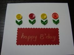 very graphic quilled flowers