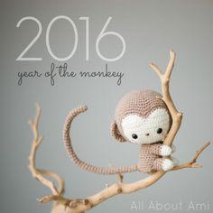 Free monkey amigurumi pattern - All about Ami