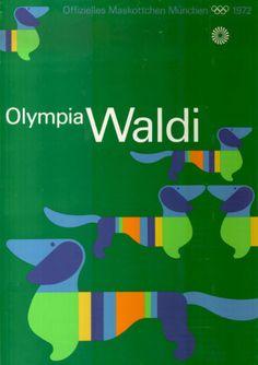 Olympische-Spiele-1972-Muenchen-Motiv-MASKOTTCHEN-WALDI-DIN-A1-Otl-Aicher
