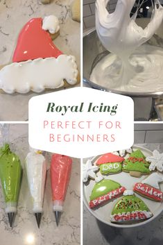 Royal Icing - Fun and Frosted Royal Icing Recipe for Sugar Coo. - Royal Icing – Fun and Frosted Royal Icing Recipe for Sugar Cookie Cutouts! Sugar Cookie Cutout Recipe, Cut Out Cookie Recipe, Sugar Cookie Royal Icing, Easy Sugar Cookies, Sugar Cookies Recipe, Best Sugar Cookie Frosting Recipe For Decorating, Decorating With Royal Icing, Best Royal Icing Recipe For Cookies, Easy Sugar Cookie Frosting