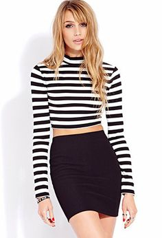 Standout Striped Crop Top on Wanelo