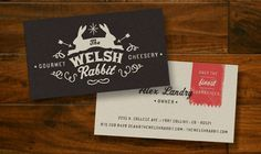 The Welsh Rabbit business card by Ten Fold Collective #businesscard