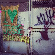 A yarn bomb farewell to Breaking Bad spotted in Bed-Stuy...