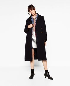 Image 1 of LONG COAT WITH GOLDEN BUTTONS from Zara