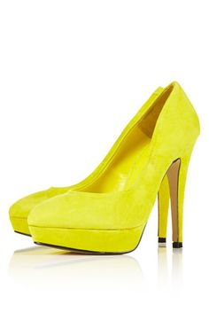 Neon yellow heels-these would be tight for my wedding! one day...