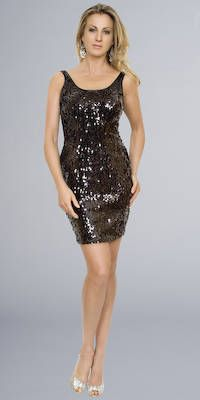 Little black sequin dress ♡ | ※Fashionista Glam※ - In Style ...