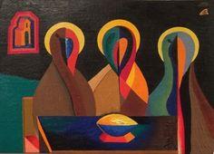 Boris Uan-Zo-li Holy Trinity, 1981 Oil on Canvas