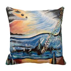 16x16 dreaming of Mars Pillow