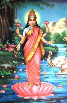 There are four main sects within Hinduism: Shaivism, Vaishnavism, Shaktism, Smartism, in which six main gods are worshiped Indian Eyes, Lakshmi Images, Religion, Indian Tapestry, Litho Print, Divine Mother, Goddess Lakshmi, Indian Goddess, Hindu Deities